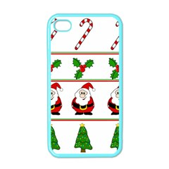 Christmas pattern Apple iPhone 4 Case (Color)