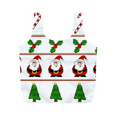 Christmas pattern Full Print Recycle Bags (M)