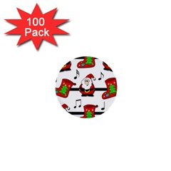 Christmas song 1  Mini Buttons (100 pack)