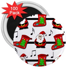 Christmas song 3  Magnets (100 pack)