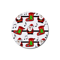 Christmas song Rubber Round Coaster (4 pack)