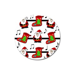 Christmas song Magnet 3  (Round)