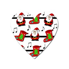Christmas Song Heart Magnet