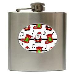 Christmas song Hip Flask (6 oz)