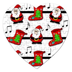 Christmas song Jigsaw Puzzle (Heart)