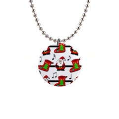 Christmas song Button Necklaces