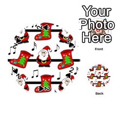 Christmas Song Playing Cards 54 (round)