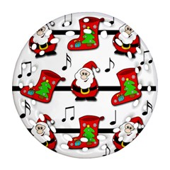 Christmas song Ornament (Round Filigree)