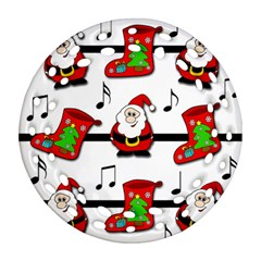 Christmas song Round Filigree Ornament (2Side)