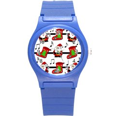 Christmas song Round Plastic Sport Watch (S)