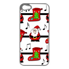 Christmas song Apple iPhone 5 Case (Silver)