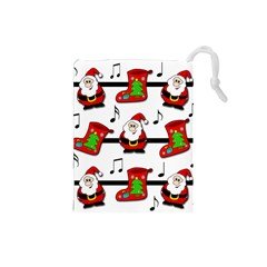 Christmas song Drawstring Pouches (Small)