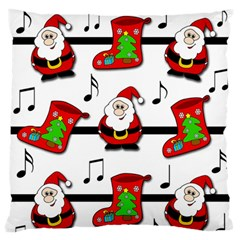 Christmas song Large Flano Cushion Case (One Side)