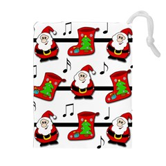 Christmas song Drawstring Pouches (Extra Large)