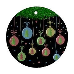 Christmas balls - pastel Ornament (Round)