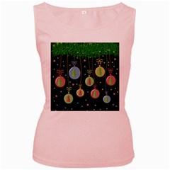 Christmas balls - pastel Women s Pink Tank Top