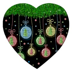 Christmas balls - pastel Jigsaw Puzzle (Heart)