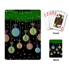Christmas balls - pastel Playing Card