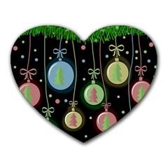 Christmas balls - pastel Heart Mousepads