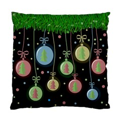Christmas balls - pastel Standard Cushion Case (Two Sides)