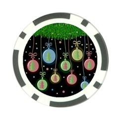 Christmas balls - pastel Poker Chip Card Guards (10 pack)