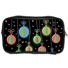 Christmas balls - pastel Toiletries Bags