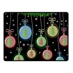 Christmas balls - pastel Fleece Blanket (Small)