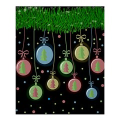 Christmas balls - pastel Shower Curtain 60  x 72  (Medium)