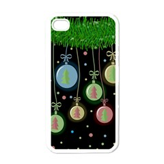 Christmas balls - pastel Apple iPhone 4 Case (White)