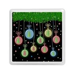 Christmas balls - pastel Memory Card Reader (Square)