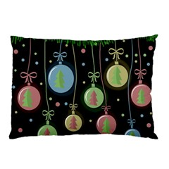 Christmas balls - pastel Pillow Case (Two Sides)