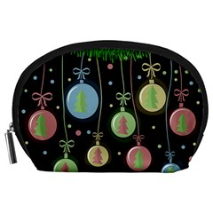 Christmas balls - pastel Accessory Pouches (Large)