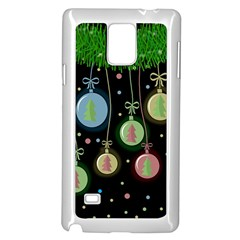Christmas balls - pastel Samsung Galaxy Note 4 Case (White)
