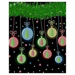 Christmas balls - pastel Drawstring Bag (Small)