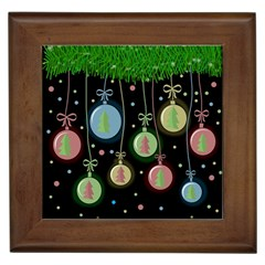 Christmas balls - pastel Framed Tiles