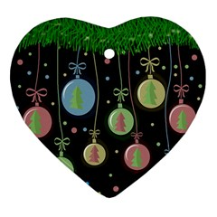 Christmas balls - pastel Ornament (Heart)