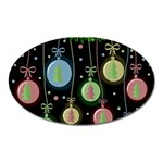 Christmas balls - pastel Oval Magnet Front