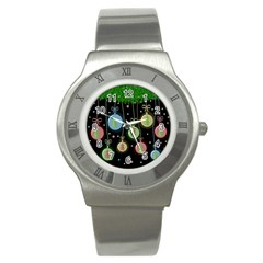 Christmas balls - pastel Stainless Steel Watch