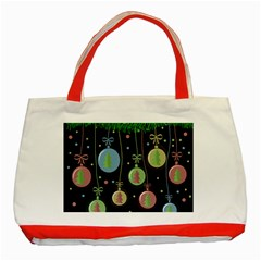 Christmas balls - pastel Classic Tote Bag (Red)