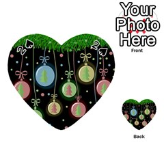 Christmas balls - pastel Playing Cards 54 (Heart)