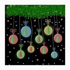 Christmas balls - pastel Medium Glasses Cloth (2-Side)