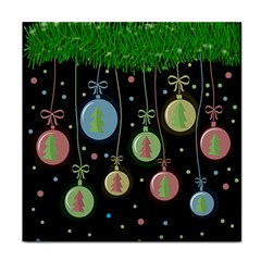 Christmas balls - pastel Face Towel
