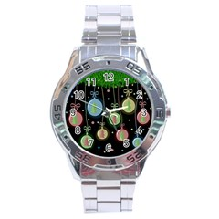 Christmas balls - pastel Stainless Steel Analogue Watch
