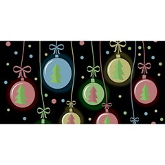 Christmas balls - pastel YOU ARE INVITED 3D Greeting Card (8x4)