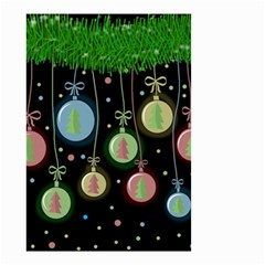 Christmas balls - pastel Small Garden Flag (Two Sides)