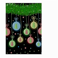 Christmas balls - pastel Large Garden Flag (Two Sides)