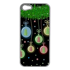 Christmas balls - pastel Apple iPhone 5 Case (Silver)