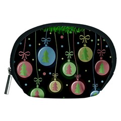 Christmas balls - pastel Accessory Pouches (Medium)