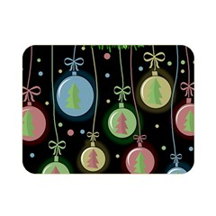 Christmas balls - pastel Double Sided Flano Blanket (Mini)
