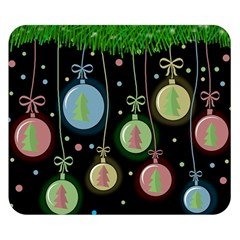 Christmas balls - pastel Double Sided Flano Blanket (Small)